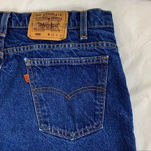 VTG Men's Levi's 505 Orange Tab Jeans Size 38 x 30